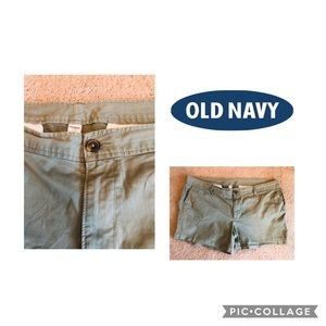 Old Navy Olive Green Chino Shorts